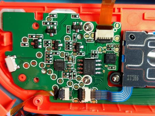 The other end of the red controllers PCB