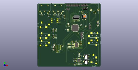 Top view of the PCB